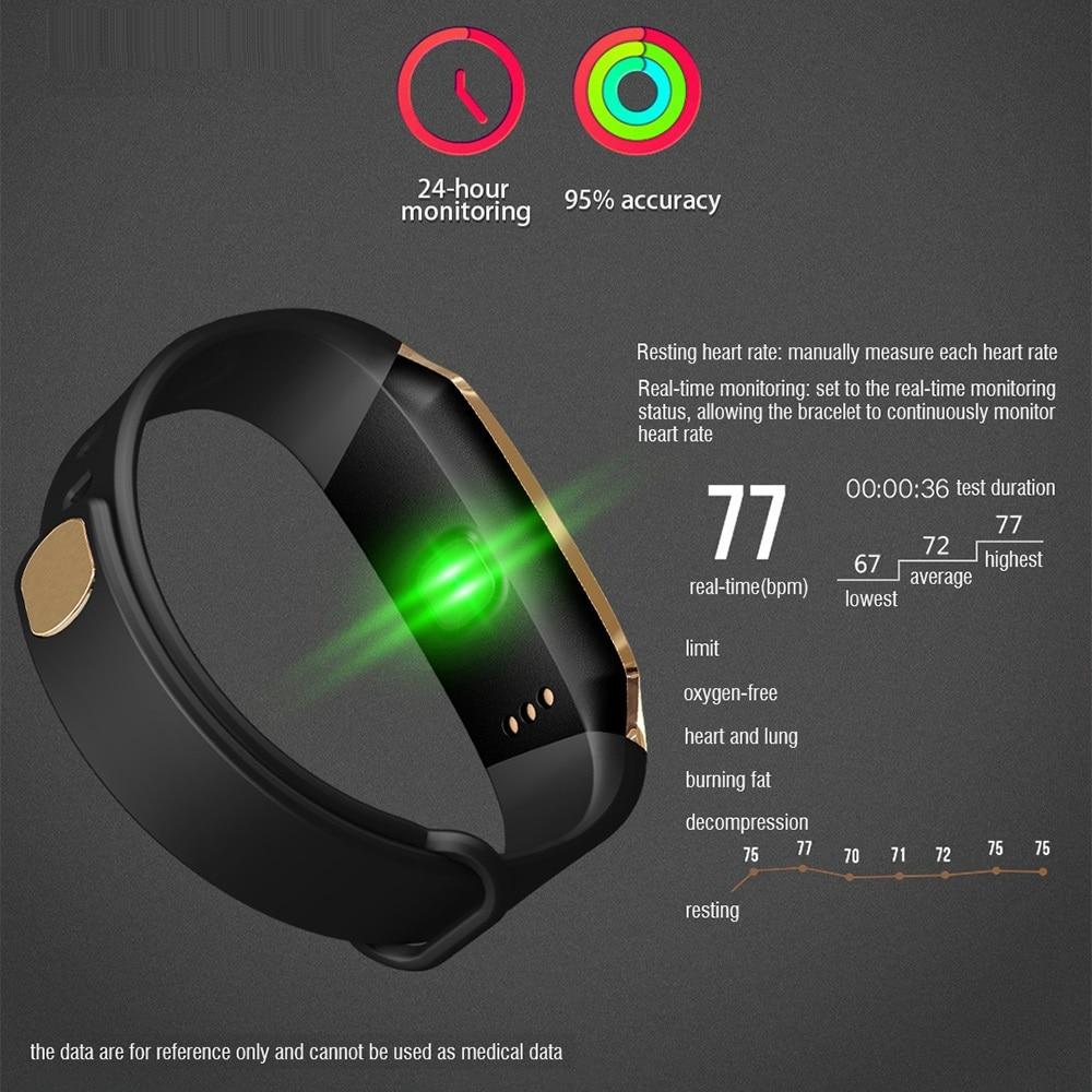 Смарт часы с Bluetooth, умные Цвет Сенсорный экран для мужчин женщин Детский Браслет спортивный браслет Хуа Вэй Сяо mi полосы для IOS Android E18 - 6