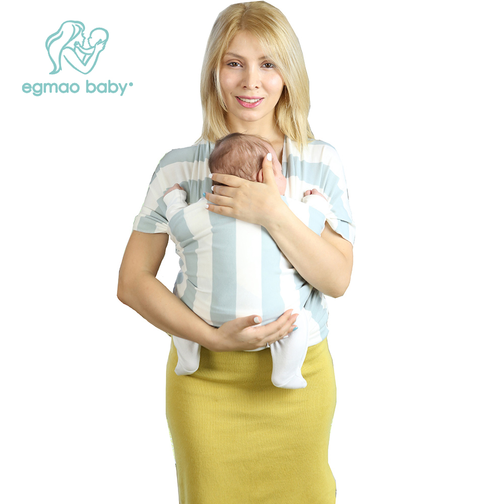 EGMAO BABY New Baby Sling Baby Carrier Wrap For Newborns Striped Cotton Elasticity Kangaroo Infant Backpack For Toddle & Infants 2016 hot portable baby carrier re hold infant backpack kangaroo toddler sling mochila portabebe baby suspenders for newborn