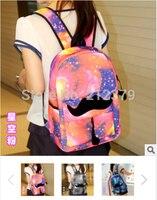 4pcs Lot Hot Sell Big Beard Backpack Girls Boys Blue Star School Bags Canvas Women S