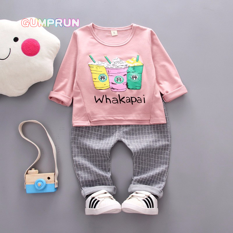 Kids Autumn Clothes Cotton Cola Printed Boys T-shirt Set Casual Children Clothing Girl Winter Clothes For Kids newborn clothing kids autumn clothes fashion letter printed boys t shirt set casual children clothing girl winter clothes for kids baby clothing