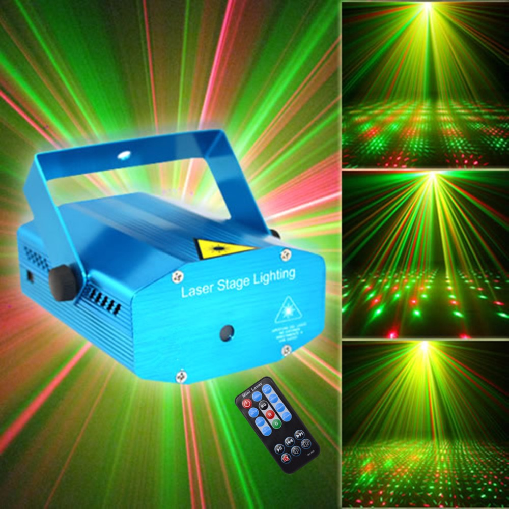 Mini Blue Portable IR Remote RG Meteor Laser Projector Lights Stage Lighting Outdoor KTV DJ Bar Party Home Show Light OSI100U rg laser remote control blue led stage light show fixtures christmas holiday disco dj lighting professional home party lights