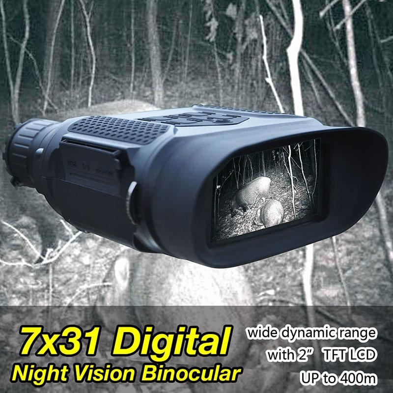3.5-7x31mm Digital Night Vision Binocular Infrared Illuminator 1300ft /400M Viewing Range 12 Language For Hunting gs27-0023 4x50 digital night vision binocular 300m range takes 5mp photo