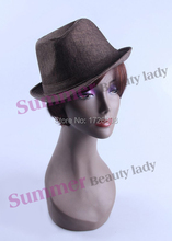 Plastic Realistic Black Woman Mannequin Head Female Mannequin heads ABS Cheap Dummy Head Display Wig Hat Scarf Sunglass Jewelry