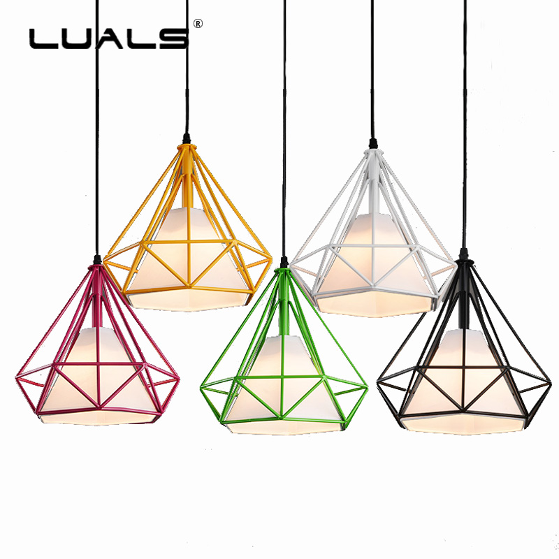 Nordic Pendant Light Retro Fixtures Loft iron Pendant Lamp For Themed Restaurant Art Deco Lighting Multicolor Led Pendant Lights vintage pendant lights iron loft lamps nordic retro light industrial style cage pendant lamp restaurant lighting pendant lustre
