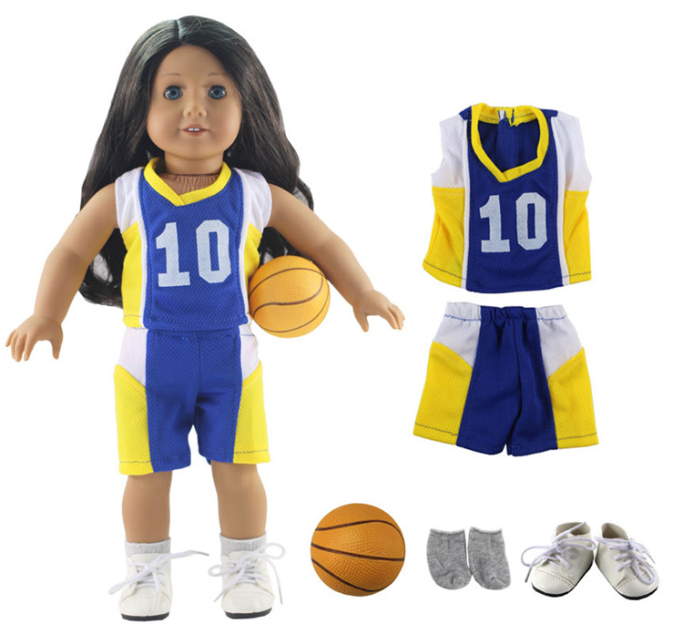 Dolls & Stuffed Toys Toys & Hobbies New 1 Set Leisure Handmade Dress Clothes Outfit Sportswear For 18american Doll Multiple Choices