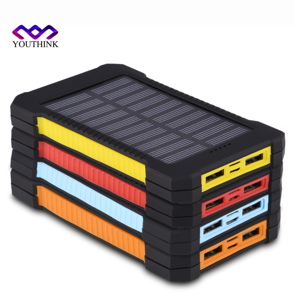 2*706090 not Included Solar Power Bank Case Portable External Battery Charger For Smart Phone Battery 2*606090 no Battery