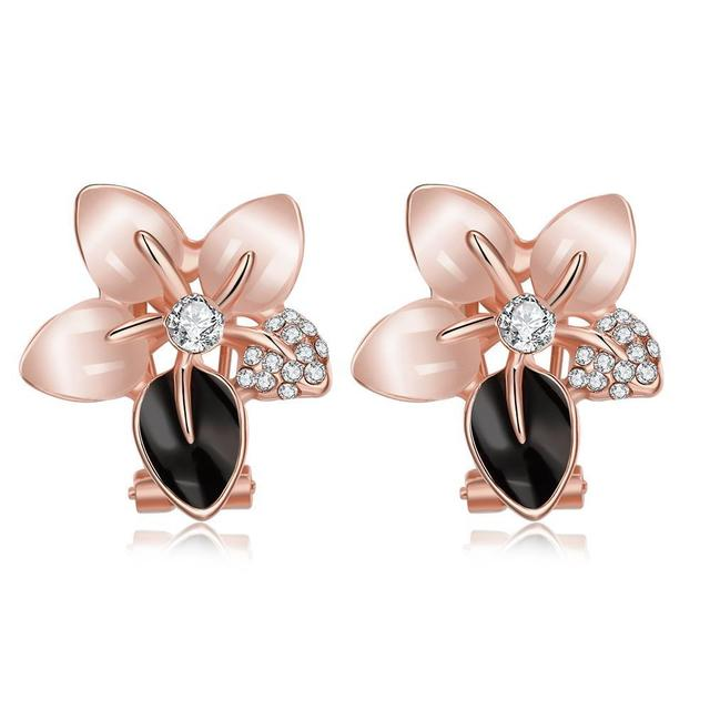 E1073-B Wholesale Nickle Free Antiallergic White Real Gold Plated Earrings For Women New Fashion Jewelry