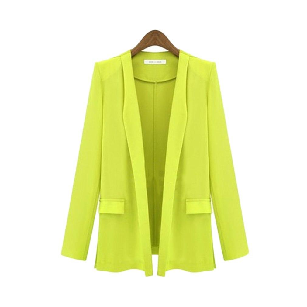 2018 Autumn Women Blazer Bomber Jackets Slim Elegant Coats Clothes Office Lady Tops Blouser Loose Wrap Female Suit With Pocket