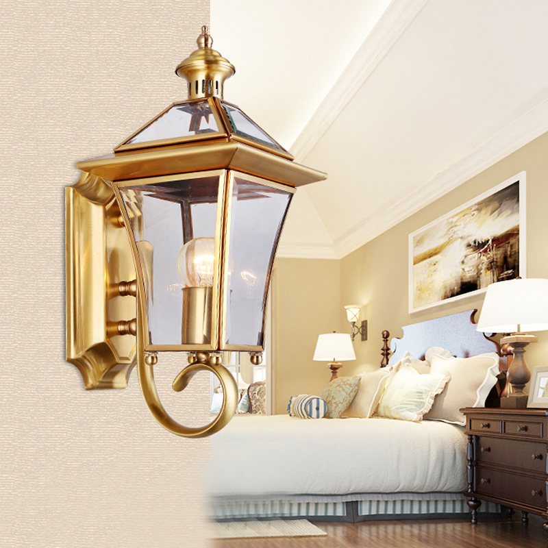 Vintage Bronze Waterproof led exterior wall lamp outdoor lights ...
