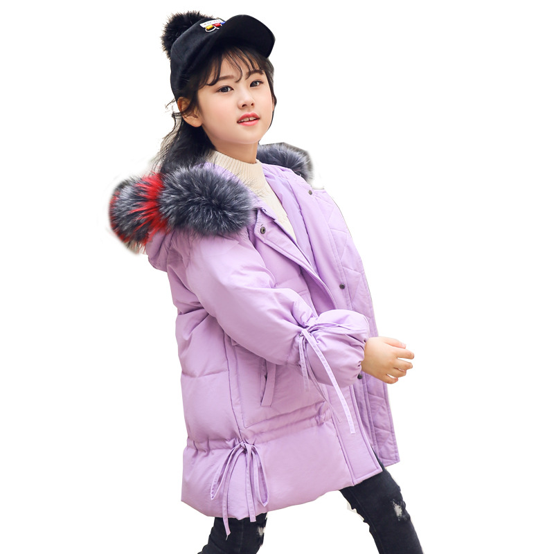2018 New Winter Girls Hooded Jacket Girls clothing Children Outerwear Coats warm Down jacket for girl kids Outerwear 2018 girls clothing warm down jacket for girl clothes 2018 winter thicken parka real fur hooded children outerwear snow coats
