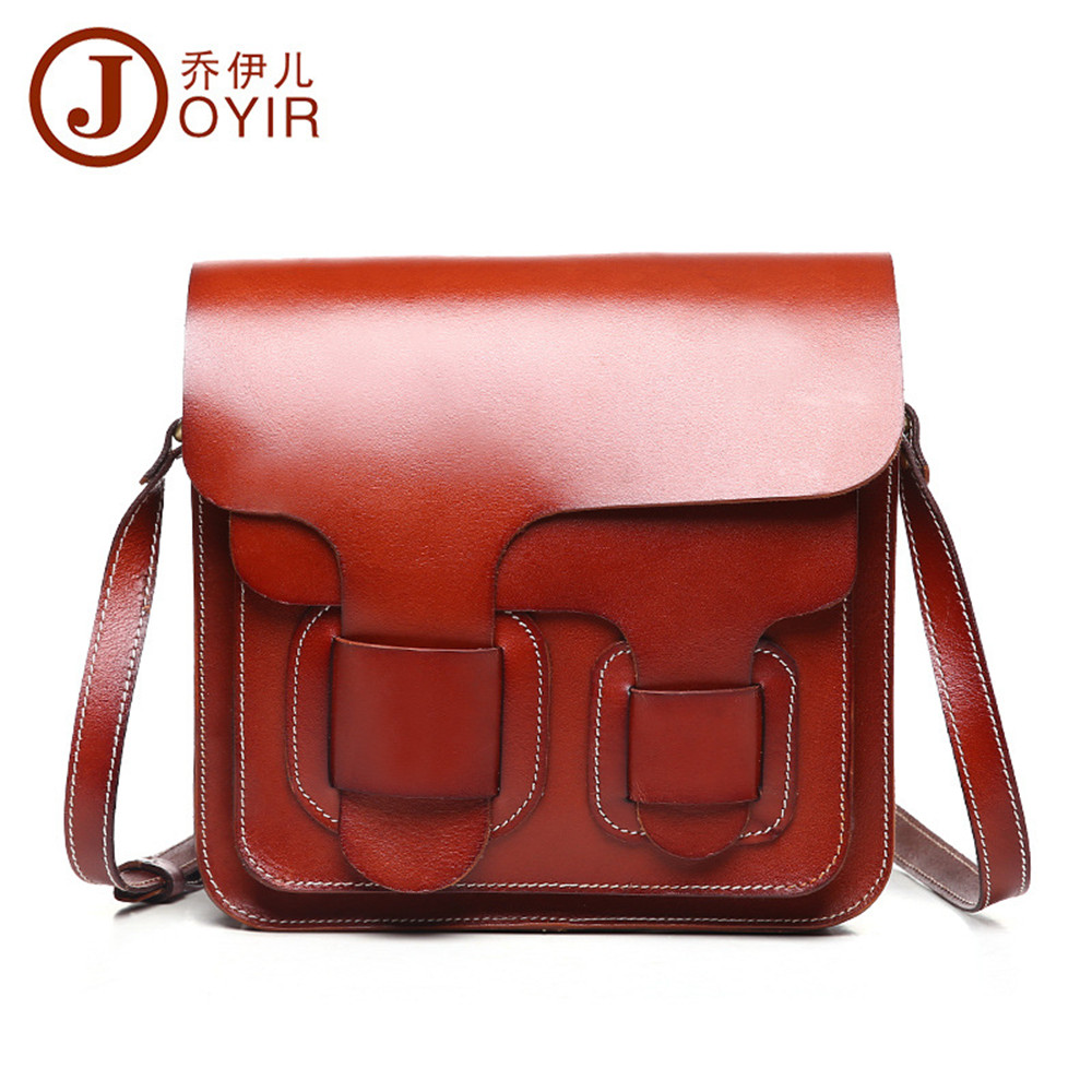 2017 women bag Fashion Women's Messenger Bags Genuine leather drawnstring Small Shoulder Bag High Quality Vintage Crossbody bags 2017 fashion all match retro split leather women bag top grade small shoulder bags multilayer mini chain women messenger bags