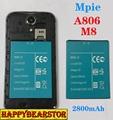 100% New original 2800mAh Battery Board for Mpie M8 A806 A8