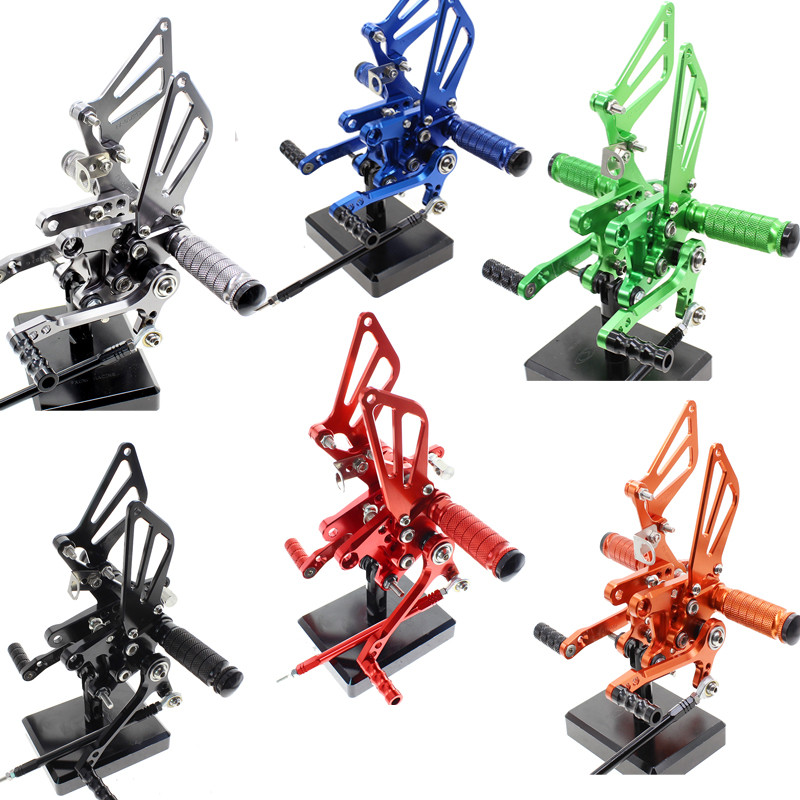 FX Aluminum Motorcycle Rearsets Rear Set Foot Pegs Pedal Footrest For Suzuki GSXR1000 GSXR 1000 2001-2004 2002 2003