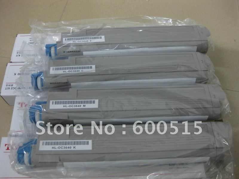 HOT Selling !!! Compatible OKI ES3640 3640e 3640 Color toner Cartridge BK/M/C/Y 4pcs/Lot