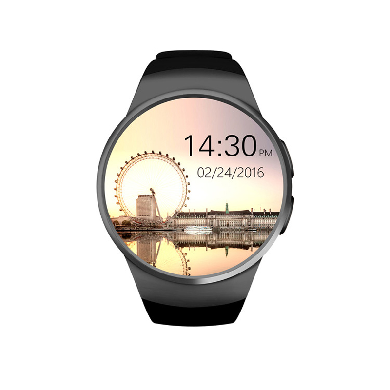 ФОТО Original KW18 Full Round IPS Heart Rate Smart Watch MTK2502 BT4.0 Smartwatch for ios and Android Samsung Intelligent Watch