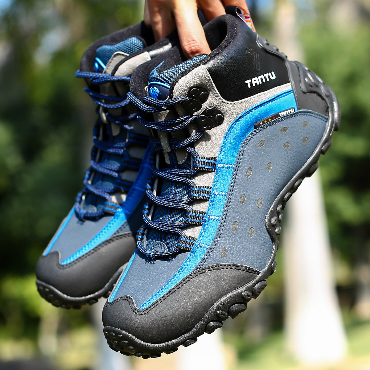 Bravover New Autumn Winter High Boots Outdoor Shoes Men Leather Shoes Sports Climbing Fishing Hunting Shoes mulinsen new arrive 2017 autumn winter warm high climbing shoes men