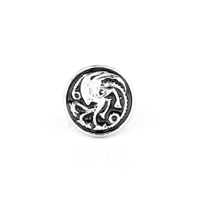 Dongsheng Игра престолов House Targaryen дракона Запонки мужские Винтаж бренд манжеты Пуговицы Gemelos рубашка Запонки-40