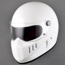 Vcoros Motorcycle Helmet Japan  for TT & CO Thompson Ghost Rider racing shiny vintage helmets MAN full face helmet DOT approve