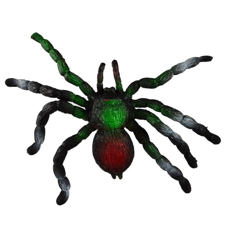 BOHS Soft Elastic Big Spider Prank Toy Freaks Out Stretch Simulation Animal Model  infrared remote control scary creepy plush spider tarantula prank toy kid gift