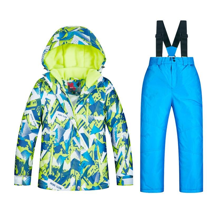 Combinaisons de Ski imperméables Super chaud 2019 hiver veste et pantalon enfants Ski et snowboard vêtements veste de neige pour les marques de garçons - 4