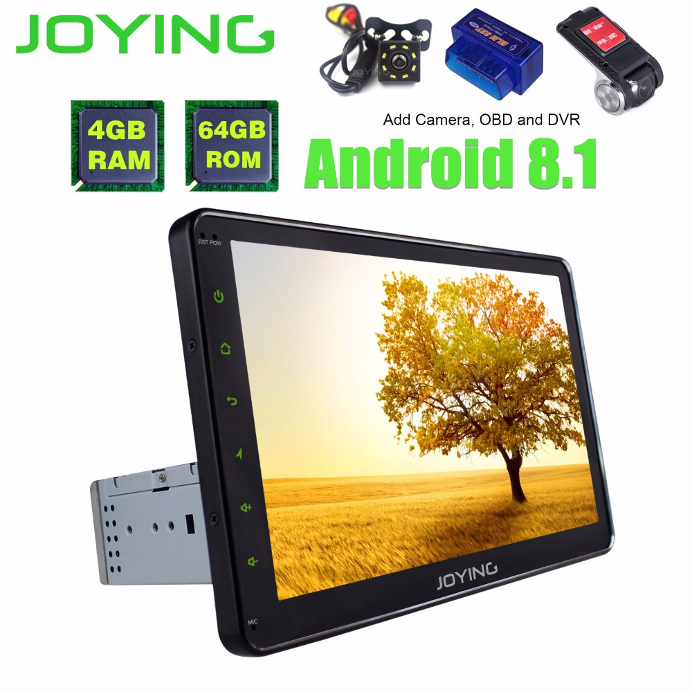 10.1TDA7851 IPS Octa Core Single Din Android 8.1 Head Unit 4GB +64GB Universal Car Radio Stereo GPS Navigation Built in DSP