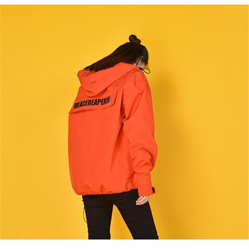 Kw043 Outillage À Occasionnel Capuche Japonais Kulazopper Femelle Femmes Black orange Hiver Manteau Capuchon Multi poches Automne Style Pull Veste Bf nwAqTR
