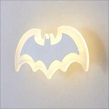 купить Bat creative Wall lamps living room bedroom bedside lamp aisle lights staircase lights cartoon children room wall lights дешево