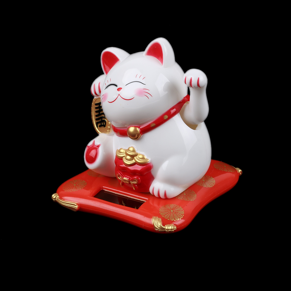 Set of 2 White Cat Figurines  Ornament  Home Decor Gift