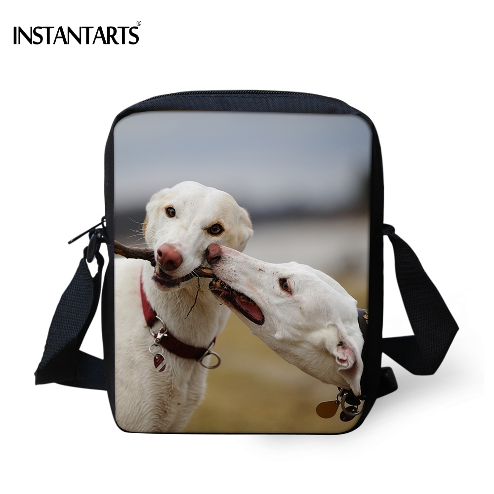 INSTANTARTS Cute Greyhound Dog Print Women Mini Crossbody Bag Brand Designer Travel Messenger Bags High Quality Girls Handbags klotz grsxp050 greyhound