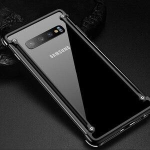 Image 1 - Original Aluminum Metal Bumper Case For Samsung Galaxy S10e Luxury Slim Hard Airbag Drop Protection Case for Samsung S10e Cover