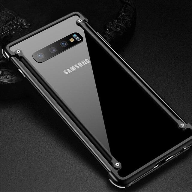 Original Aluminum Metal Bumper Case For Samsung Galaxy S10e Luxury Slim Hard Airbag Drop Protection Case for Samsung S10e Cover