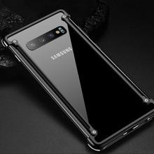 OriginalอลูมิเนียมโลหะกันชนกรณีสำหรับSamsung Galaxy S10e Luxury Slim HardถุงลมนิรภัยสำหรับSamsung S10eฝาครอบ