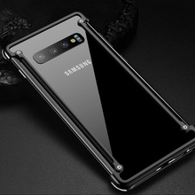 삼성 전자 갤럭시 s10e에 대한 원래 알루미늄 금속 범퍼 케이스 삼성 S10e 커버에 대한 럭셔리 슬림 하드 에어백 드롭 보호 케이스