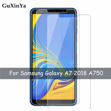 2pcs Tempered Glass sFor Samsung Galaxy A7 2018 Screen Protector For 9H Anti-scratch A750 Phone Film