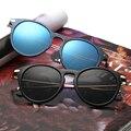 OUTEYE 2017 New Women Sunglasses Unique Oversize UV400 Metal Vintage eyeglasses Metal frames Sun Glasses For Men