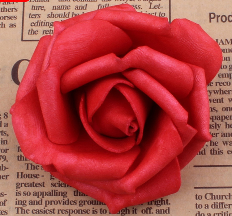 100 unids / lote 7 cm Espuma Artificial Rose Heads Real Touch DIY - Para fiestas y celebraciones - foto 3