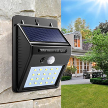 Solar Lamp Muur Draagbare Led Licht Sensor Automatisch Kamp Tent Zaklamp Night Led Garden Road Light Waterdichte Outdoor Lamp(China)