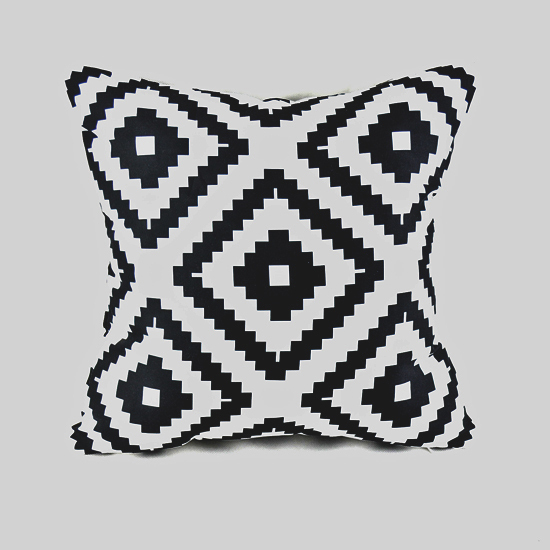 cm home textile classic black white abstract geometry diamond throw cushion cover pillow
