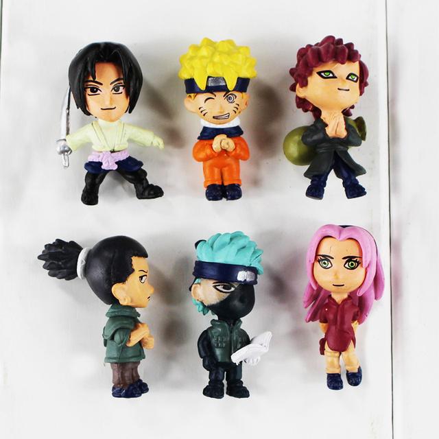 6 Pcs Anime Naruto Kakashi Mini Doll Action Figure