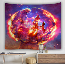 NEW WILLOW Digital printing tapestry hanging painting beach towel starry sky wall living room bedroom tapestry