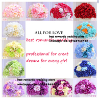wedding road lead rose and hydrangea artificial flowers wedding table centerpiece flower balls decorations