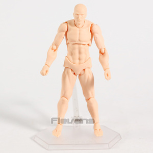 Image 4 - Body Figma Archetype Next He / She Flesh Gray Color Ver. Deluxe PVC Action Figure Collectible Model Toy