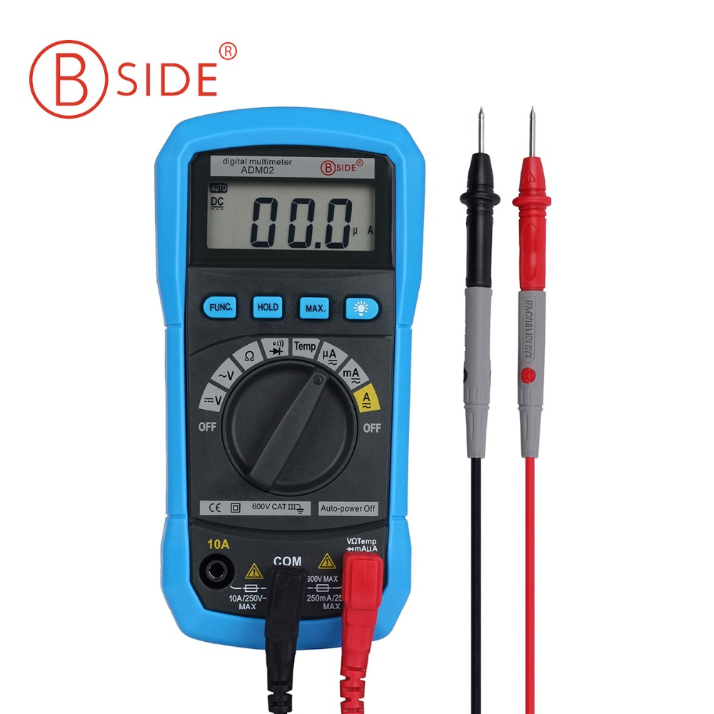 BSIDE Digital Multimeter ADM01 Multifunction AC/DC Voltage Current Temperature Resistance Capacitance Tester newacalox lcd temperature tester digital multimeter ac dc voltage current resistance capacitance measurement tool with battery