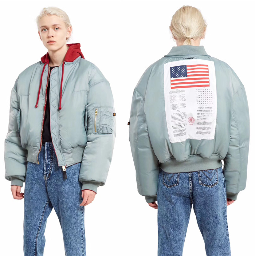 new product b23f9 d1637 US $89.09 7% OFF Vetements Jacket Men Women 1:1 High Quality MA 1 Bomber  Alpha Industries Coat Flight Air Force Pilot Jacket Vetements Jacket-in ...