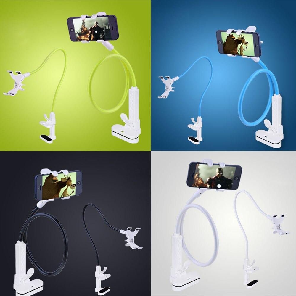 <font><b>Flexible</b></font> Long Arms Cell Phone <font><b>Clip</b></font> <font><b>Holder</b></font> Stand with Sitck-On <font><b>Car</b></font> <font><b>Mount</b></font>