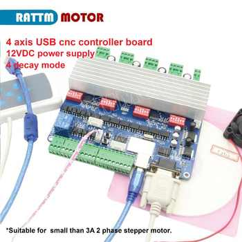 New 4 axis USB CNC  controller board USBCNC TB6560 stepper motor driver board 15KHZ - DISCOUNT ITEM  5% OFF All Category