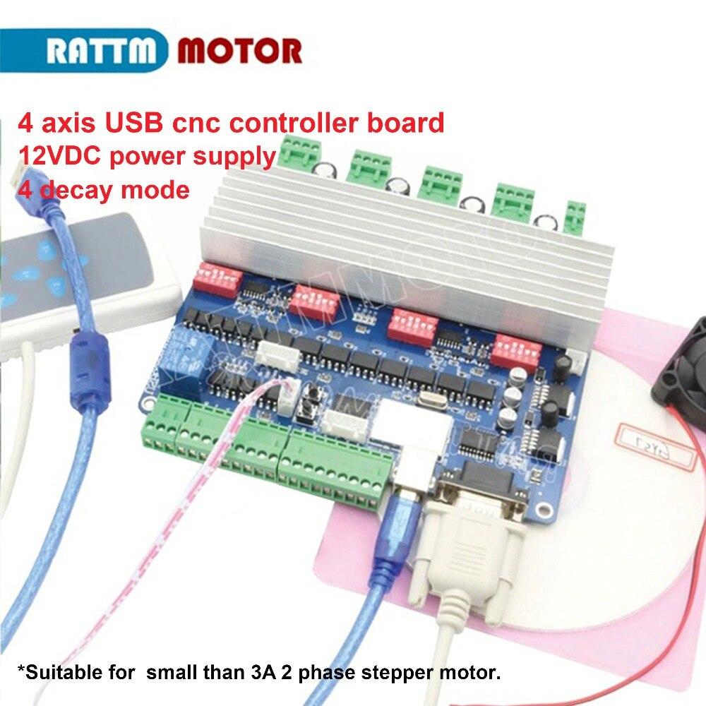 Nouveau 4 axe USB CNC carte contrôleur USBCNC TB6560 moteur pas à pas carte de conducteur 15 khz