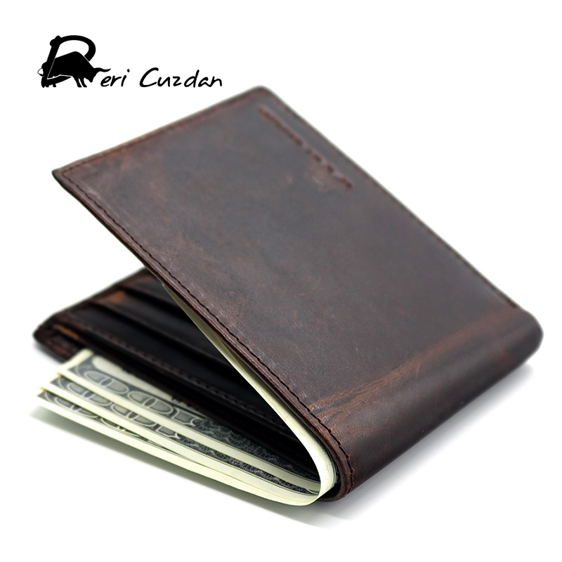DERI CUZDAN Fashion Male Purse Large Capacity Mens Cool Wallets High Quality Genuine Leather Wallets with Holder Credit Card I baellerry man wallets portefeuille homme card holder coin pocket cuzdan rfid male cuzdan purse clutch short purse with 6 styles