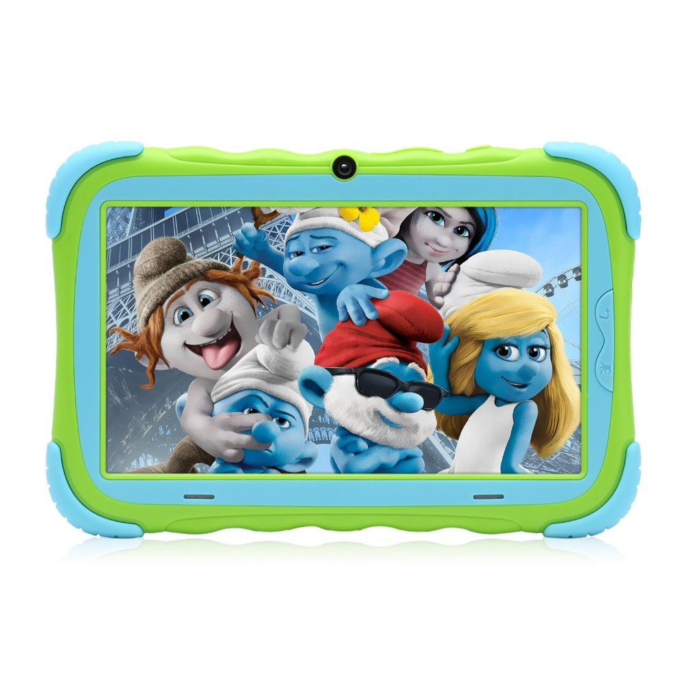 ZONKO Babypad 1024*600 IPS Quad Core Tablet Android 7.1 1G RAM+16G ROM With Silicone Case Tablet For Children LCD