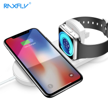 Get more info on the RAXFLY USB Wireless Charger For iPhone Samsung Magnetic Fast Charging For Apple Watch 2 3 Luxury 2 In 1 Phone Chargeur Cargador